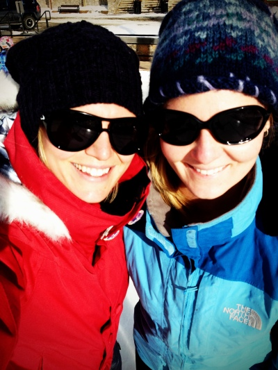 Rocking out our Oakleys while ice skating :)