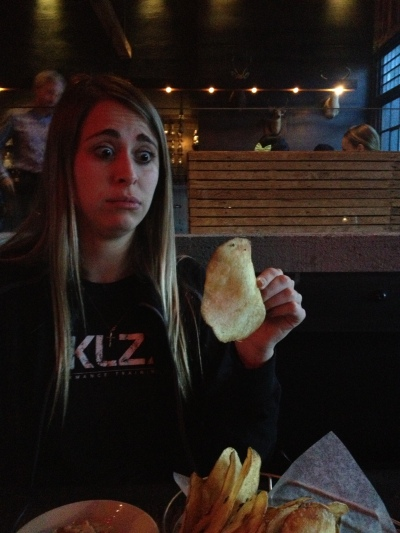 The largest potato chip I've ever seen...