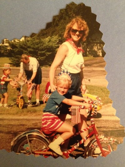 My mom and I on 4th of July.