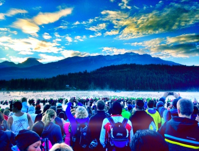 Ironman Canada swim start. It was just an unbelievably beautiful morning and venue.