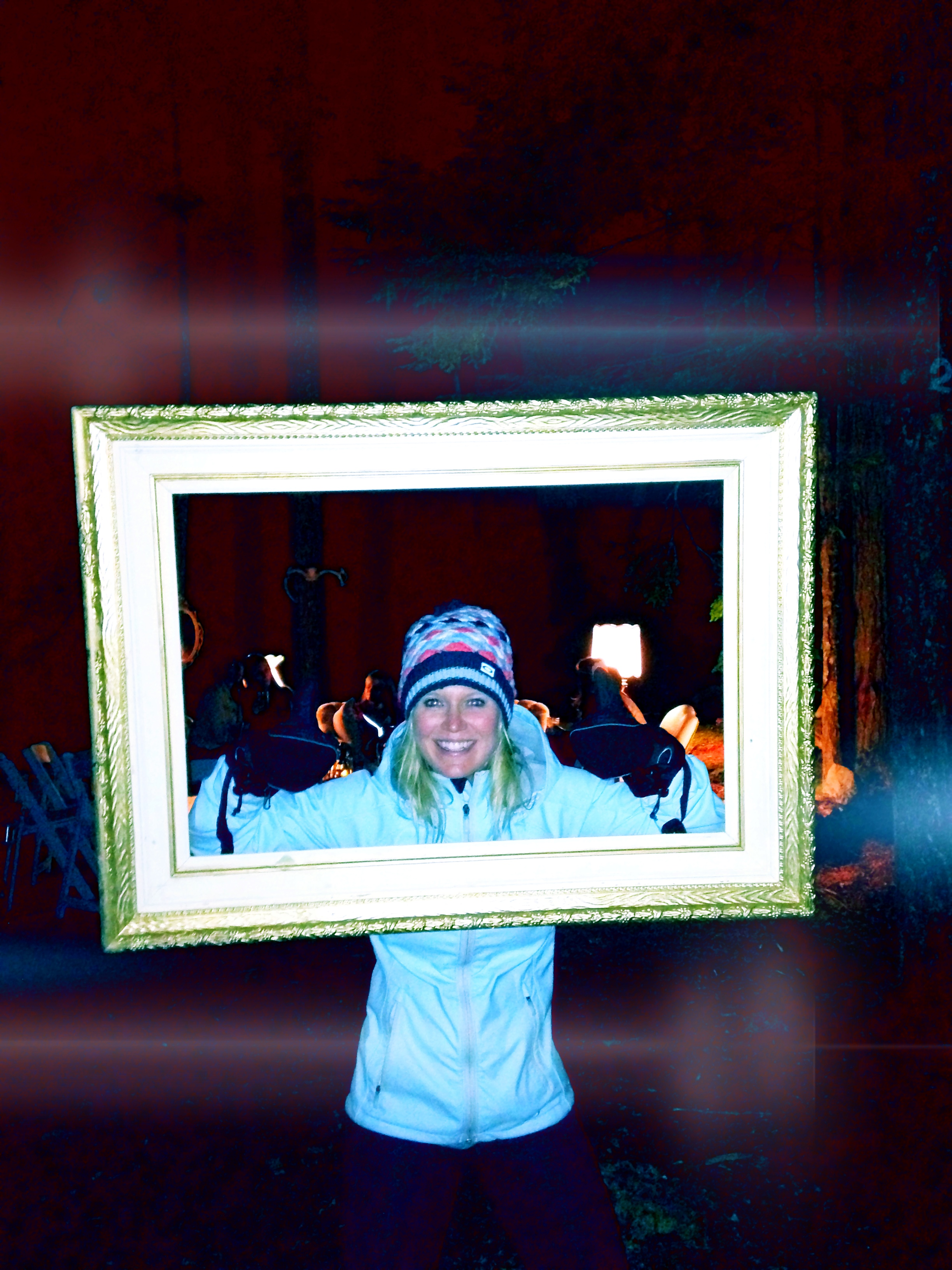 Pic Frame. And yes, it was cold. Maybe not cold enough to warrant ski mittens...but it was low 50's...(and if you know me...you know I LOVE any reason to wear my ski mittens ;) )