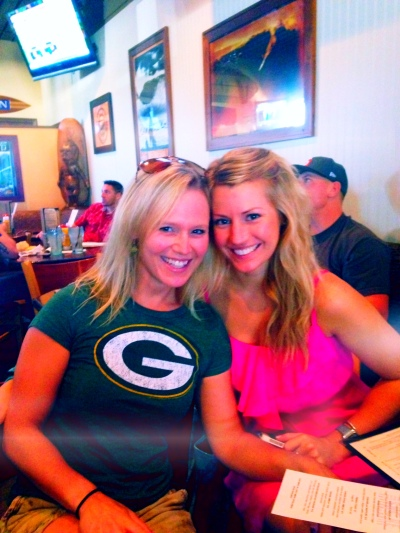 My high school friend Courtney was in town from Dallas, so we met up to watch the Packer game! GO PACK GO!