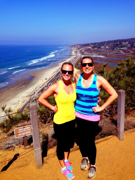 Hiking with my friend Loran, yesterday at Torrey Pines. :)