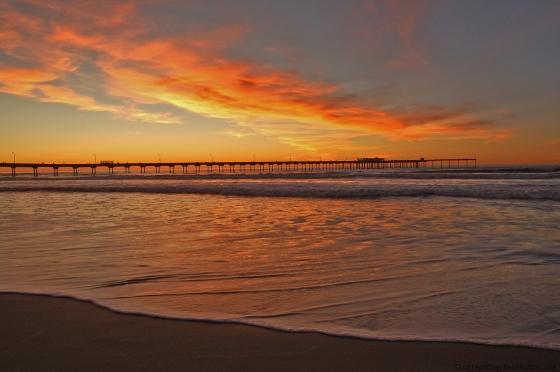 Sunset at Ocean Beach San Diego