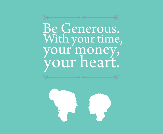 Countdown to 30 life lesson 12 be generous for Generous living