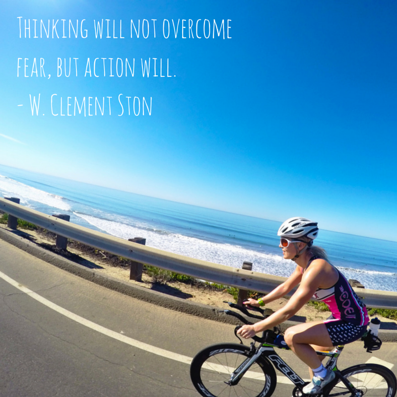 Thinking will not overcome fear, but